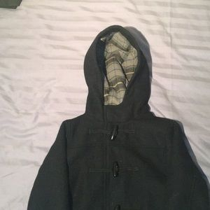 Children's Place black outerwear with hood XS /4.